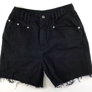 Vintage mom high rise black shorts 12 cut off